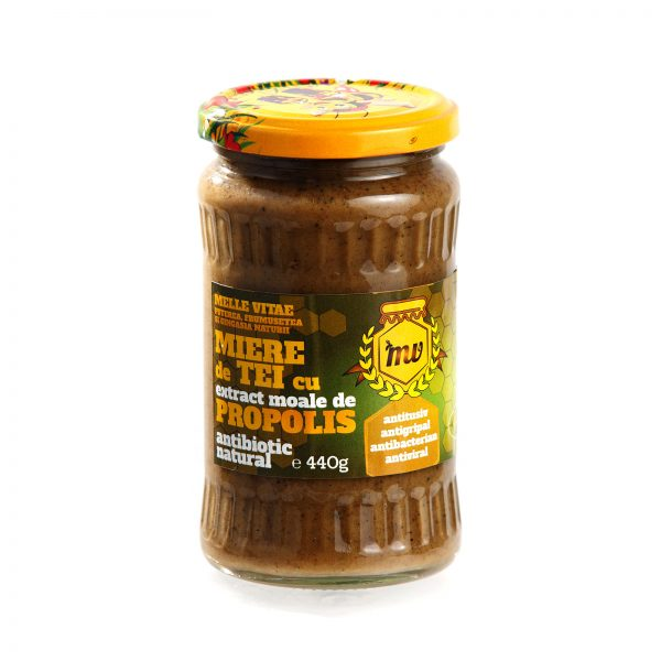 Miere tei cu extract moale propolis 440g