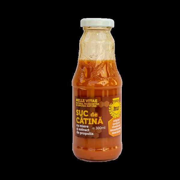 Suc de cătină cu miere si extras de polen 200ml